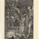 Mucius Defying Porsena, 108 year old original antique print