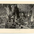 The Feast of Ceres, 108 year old original antique print