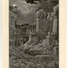 Babylon is Fallen, Gustave Dore, 108 year old original antique print