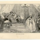 Judith Before Holofernes, 108 year old original antique print