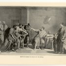 Dentatus Refuses the Wealth of the Sabines, 108 year old original antique print