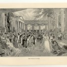The Return of Ulysses, 108 year old original antique print