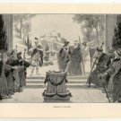 Oedipus at Colonus, 108 year old original antique print