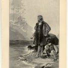 The Dream of Columbus, 108 year old original antique print