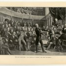 Last Compromise, Clay Urging Omnibus Bill upon the Senate, 108 year old original antique print