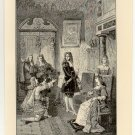 The Duke of Monmouth Begging Mercy from James II, 108 year old original antique print