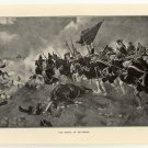 The Battle of Dettingen, original antique print