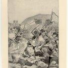 The Death of the Khalifa in the Soudan, 1899, original antique print