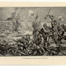The Bombardment of Cronje's Camp at Paardeburg, original antique print