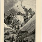 The Franks at Tours Searching the Arab Camp, original antique print