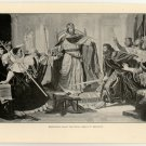 Barbarossa Saves the Papal Legate at Besancon, original antique print