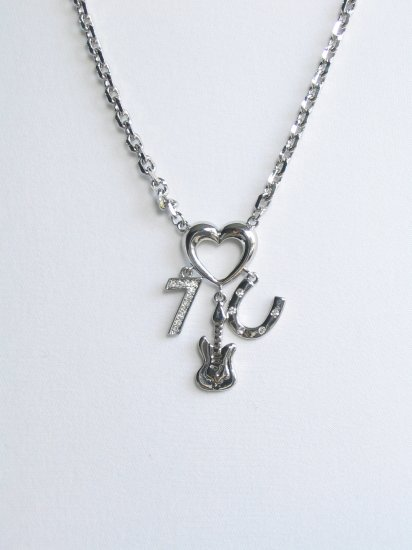 JN07 seven guita C heart necklace wholesale price $7.49