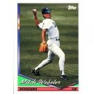 1994 Topps #382 Mitch Webster
