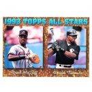 1994 Topps #384 Fred McGriff, Frank Thomas AS