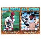 1994 Topps #388 Lenny Dykstra, Ken Griffey Jr. AS