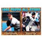 1994 Topps #393 Tom Glavine, Jimmy Key AS
