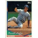 1994 Topps #498 David Hulse