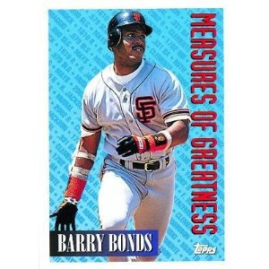 1994 Topps #605 Barry Bonds Measures of Greatness