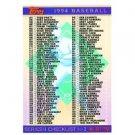 1994 Topps #791 Checklist 3