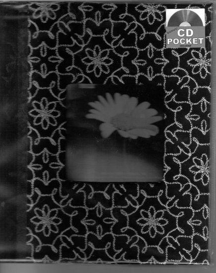 Fantastic 100% stitched Photo Album with flower designs sewed on cover and CD and Negative Pockets