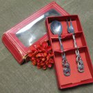 Vintage Condiment Spoon and Fork