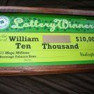 lotto winning check frame, not for sale