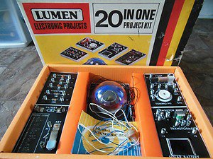 Buy electronic projects - Vintage Lumen Electronic Project kit 20 in one