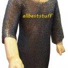 MS Chain Mail Chainmail Shirt Flat Riveted Washar Hauberk Medium LL