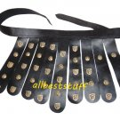 Body Muscle Armor Belt Breastplate Armor Black Leather Belt only