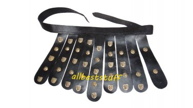 Body Muscle Armor Belt Breastplate Armor Black Leather Belt only