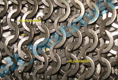 MS Chainmail Flat Riveted with Flat Solid Rings Chain mail- SHEET Only
