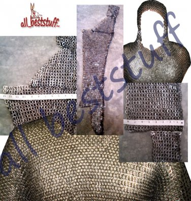 Ms Chain Mail Shirt Flat Rivet Flat Washer Coif Chain mail Legging Chainmail