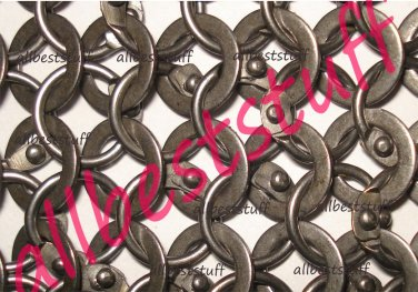 MS Chain mail Round Riveted with Flat Washer - SHEET Only
