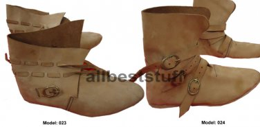 Medieval Leather Shoe Brown High Quality Boots