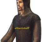 Gauge Chain Mail Armor Shirt and Coif Set Chainmail Butted Shirt & Coif SMALL LL
