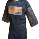 MS Chain Mail Butted Shirt with MS Plates Blackend Shirt Chainmail Small