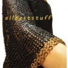 MS Chain Mail Shirt Flat Riveted Flat Washer Designer Brass Flat Riveted Hauberk