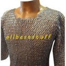 MS Chain Mail Chainmail Shirt Flat Rivet with Flat Washer Galvanised Hauberk