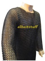 Chainmail Butted Shirt with Blackend Coating Meduim Large SCA Chain Mail Armor