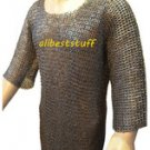 MS Chain Mail Chainmail Shirt Flat Riveted Washar Hauberk