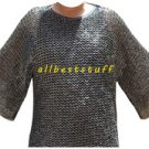 Stainless Steel Chain Mail Shirt Full Flat Riveted Large & Long Chainmail