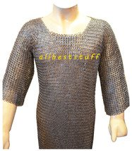 8mm MS Flat Riveted with Flat Washer Chain Mail Shirt XXL