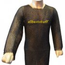MS Chainmai Shirt Butted with Blackend Coating Chain Mail Shirt