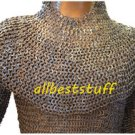 Chainmail Hauberk Shirt & Coif Set Chain Mail Hauberks high quality 8mm Large