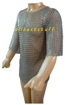 Butted Chain Mail Shirt with Zinc Coating Chainmail shirt Medium Haubark