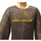 Chainmail Hauberk Shirt Full Flat Riveted 8 mm rings Riveted Chainmail Shirt