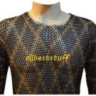Designer Chainmail Butted Blackend Chain Mail Shirt with Brass Shirt Medium