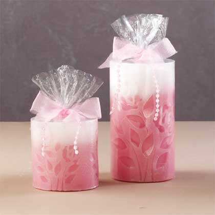 Embossed Rose Scented Candles