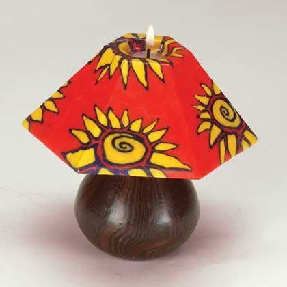 Mini Sunburst Design Lamp Shade Candle