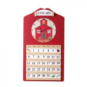 Schoolhouse Calendar and Clock
